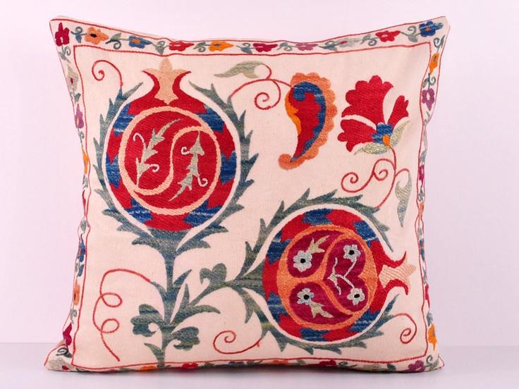 suzani pillow cases hand embroidered