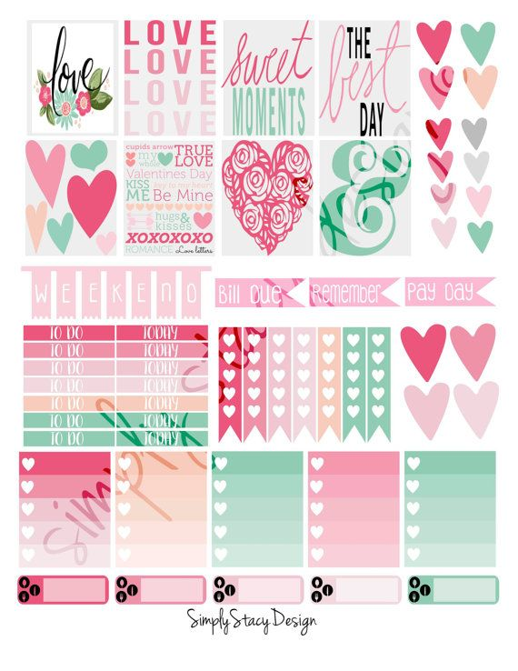 This listing is for printable Erin Condren Planner stickers!  - WHAT I AM GETTING -  letter size format (8.5x11) for easy printing  high