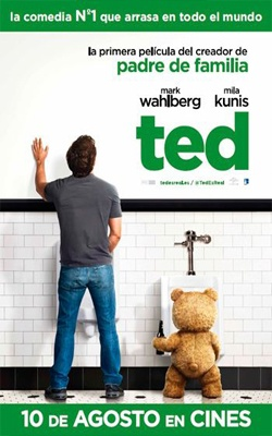 TED (2012) – ESTRENO – COMEDIA    Seth MacFarlane, creador de la serie Padre de Familia, lleva por primera vez su peculiar y atrevido humor a la gran pantalla como guionista, director y voz protagonista de TED