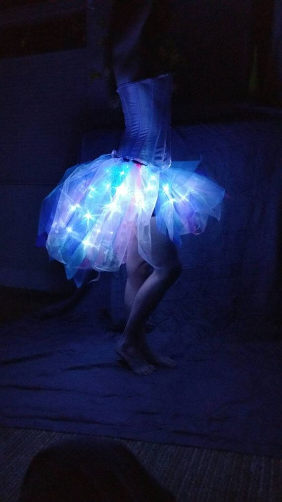Bold Arctic Jellyfish 60 LED Adult Tutu Skirt in by BoulderTuTus