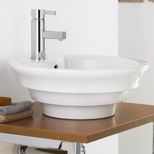 Premier Round Ceramic Bathroom Counter Top Basin