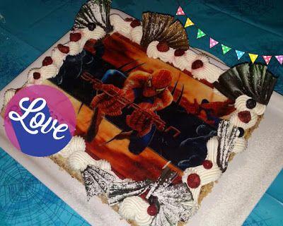 Festa a tema Spiderman...Spiderman birthday party! Torta millefoglie