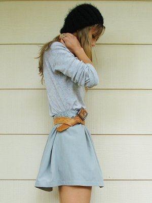 skinny girl, I like your belt