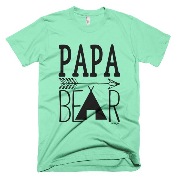 Papa Bear #beanandjean  This American Apparel t-shirt is the smoothest and softest t-shirt you'll ever wear. Made of fine jersey, it has a durable, vintage feel. These classic-cut shirts are known for their premium quality, as well as ability to stand up to a washing machine (will maintain size and color after many washes). Designed in Canada with Love, Ethically made in the USA, sweatshop free