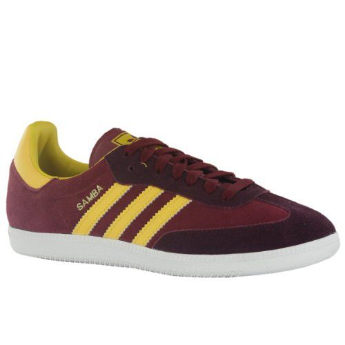 Adidas Gazelle Claret And Blue Trainers