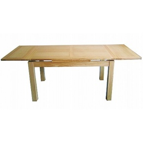 Lacar Oak 90x90 Extending Drawer Leaf Dining Table  www.easyfurn.co.uk