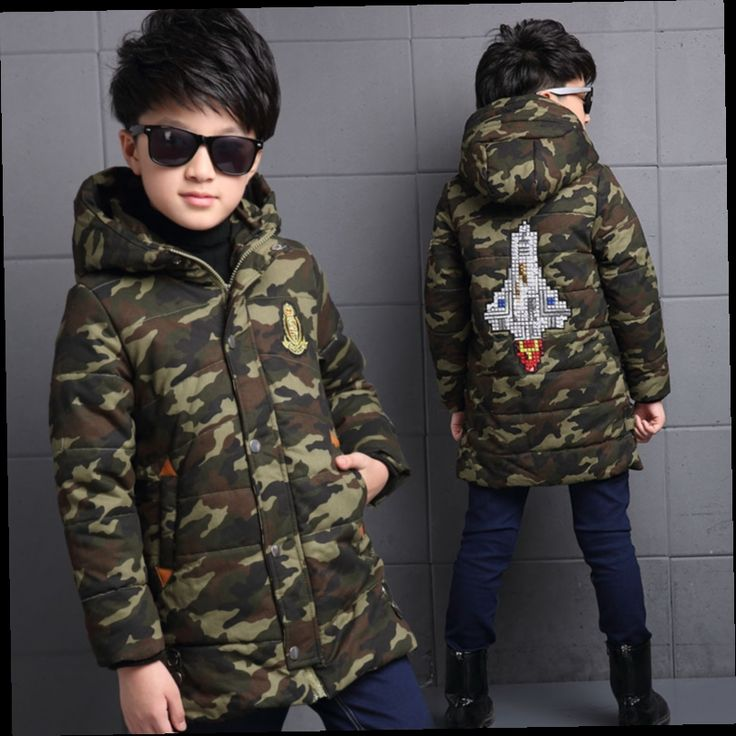 41.59$  Buy here - http://alic9u.worldwells.pw/go.php?t=32748415734 - The New 2016 Han Edition Child Cotton-padded Jacket Boy Children Winter Camouflage Hooded Cotton Baby Clothes
