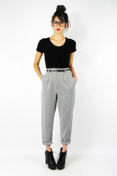 black Trashy Vintage pants
