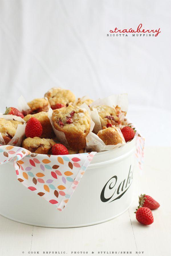 ricotta muffins with strawberry