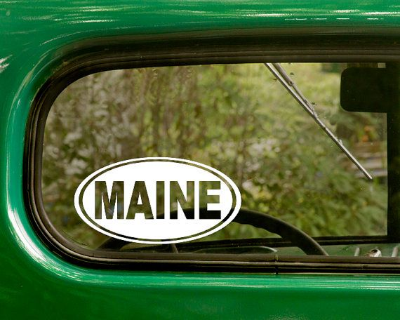 Best Oval State Stickers Decal Images On Pinterest - Custom vinyl decals maine