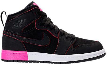 Nike Girls' Preschool Jordan Retro 1 High Basketball Shoes
