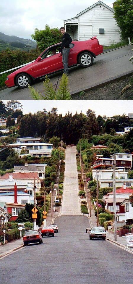 World's Steepest Street - Baldwin Street, Dunedin, New Zealand