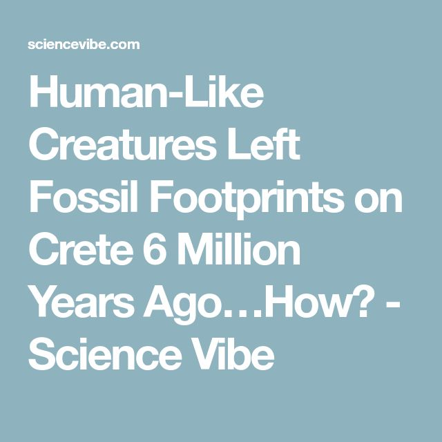 Human-Like Creatures Left Fossil Footprints on Crete 6 Million Years Ago…How? - Science Vibe