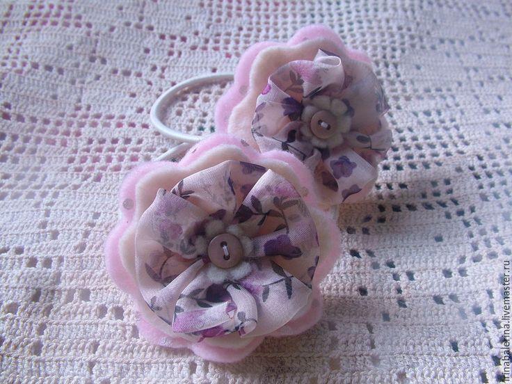 Купить Бантики для волос Скромное обаяние - розовый, цветочный, бантики для…