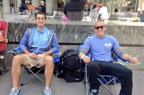 These idiots are already lining up at Apple's NY store for the new iPhone launch
