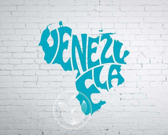 Digital Venezuela Word Art Venezuela jpg png eps svg dxf
