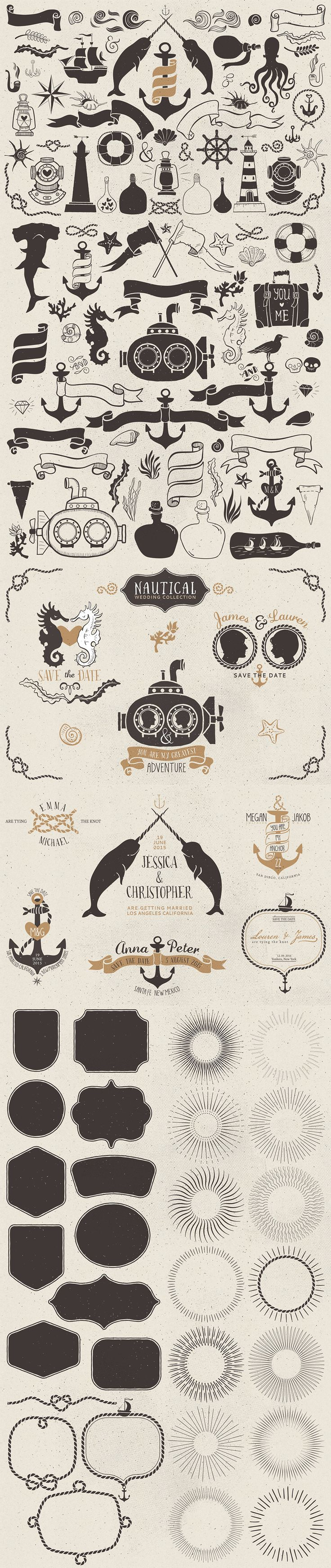 Nautical Romantic Vector Pack - https://www.designcuts.com/product/nautical-romantic-vector-pack/