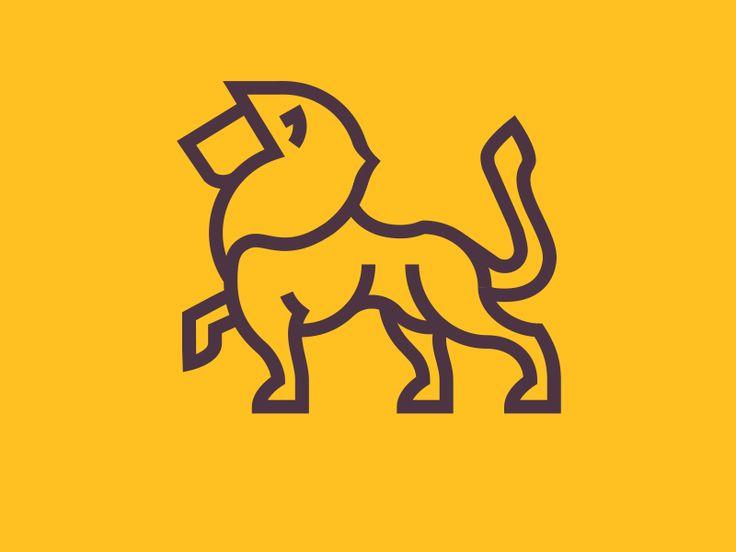 yellow lion logo - photo #39