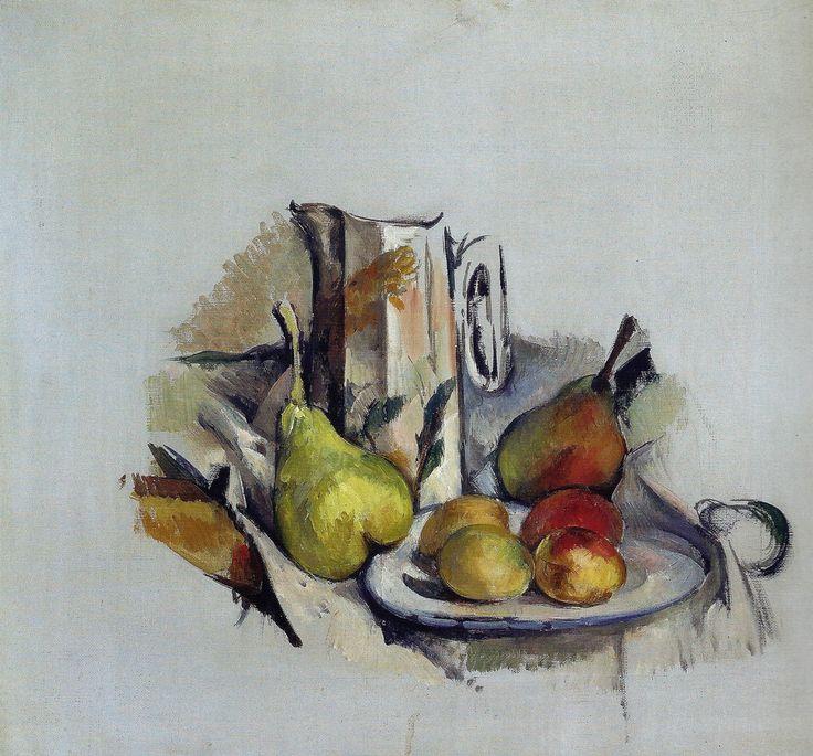 Paul Cézanne - Still Life with Jug and Fruit, 1890  Oskar Reinhart Art Collection, Winterthur Switzerland