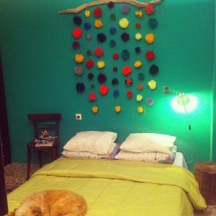 Δωστε στο υπνοδωματιο σας ενα ουδετερο, αλλα μοναδικο χαρακτηρα! Χρωματιστά pompom by Zbelt