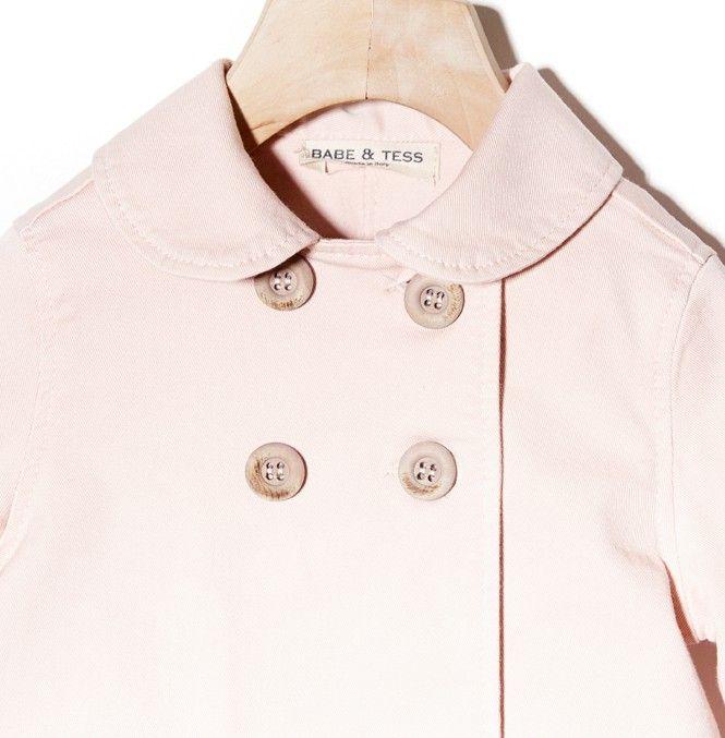 Woopeye abbigliamento per bambini, Neonato baby pink jacket babe&tess #babe&tess  http://www.woopeye.com/shop-298-giacca-rosa-doppio-petto.html