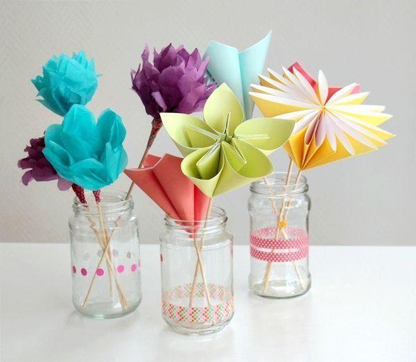 Este lindo buquê de flores de papel para dia das mães também pode decorar festas