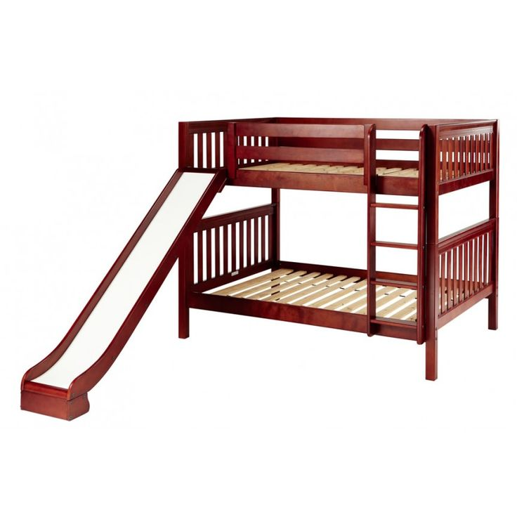 Pretty Maxtrix Full Size Low Bunk Bed Straight Ladder And