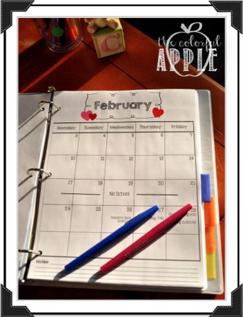 The Colorful Apple: Maternity Leave Binder