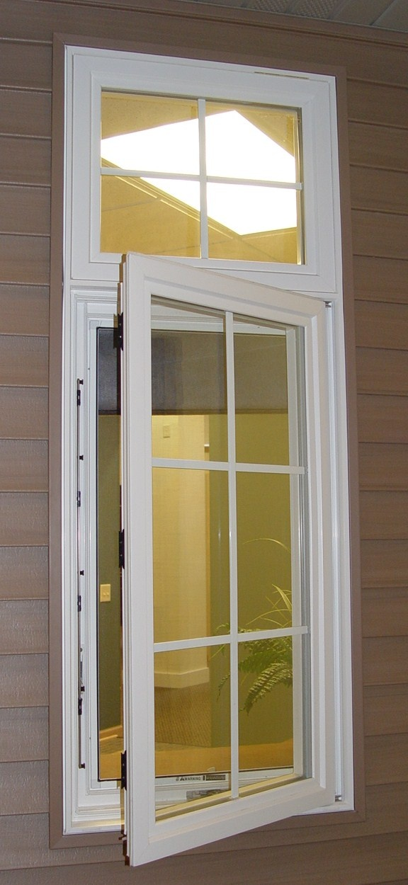 Crank-out windows can be equipped with special hardware to make them easier to use for those with arthritis or problems grasping an object
