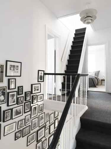 Line your staircase to liven up an often boring wall