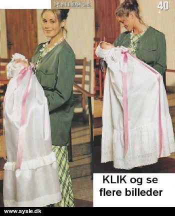 In 01-97-44 Mønster: Syet Dåbskjole/underkjole/matrostøj *org*