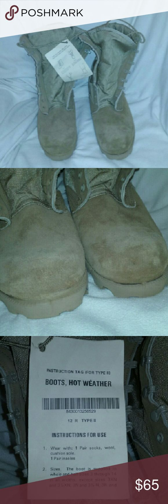 Wellco Boots Mens Work Hot Weather 12 New with tags, small bit of shelf wear and one minor mark on upper of left boot. Great pair of men's hot weather work boots. Size 12 R. Weighty pair. Wellco Shoes Boots
