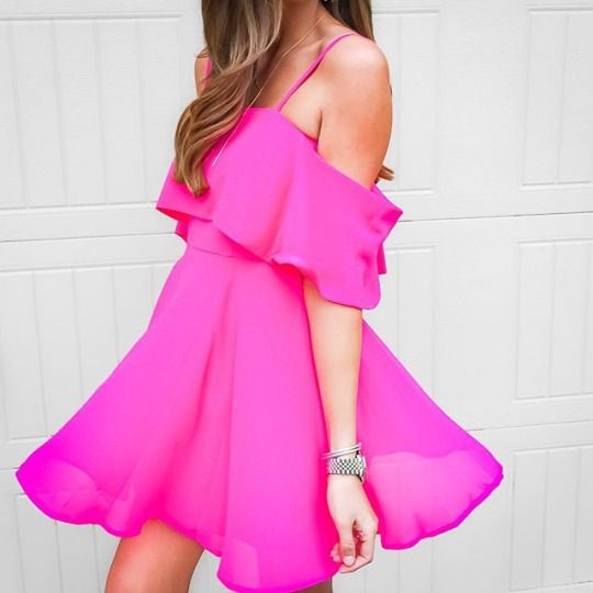 twirl-worthy pink dress.