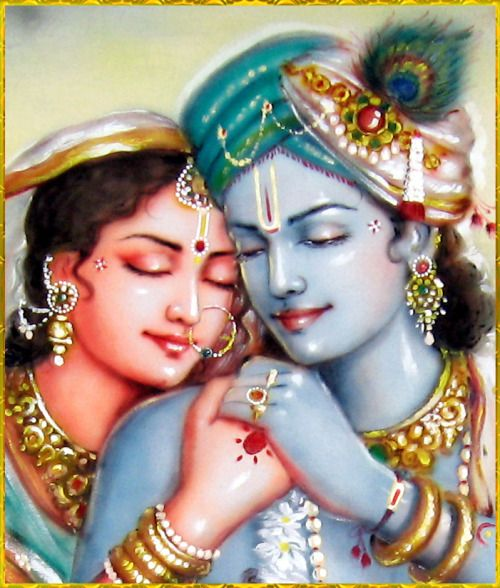 "✨ RADHA KRISHNA ✨Artist: Mahendra Dubeyhttp://mahendradubeyartist.com/""May the Lord of our life, that young boy Krishna, shine incessantly within our hearts. His eyes, full of love for Radha, are the abode of infinite beauty. Every day they appear newer and newer, at every step they increase their charm and elegance, and at every moment they sparkle more and more brilliantly.""~Krishna karnamritam"