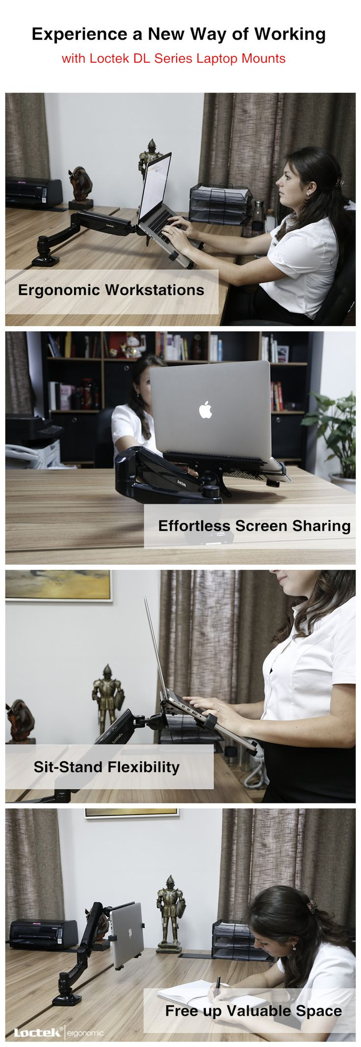 Description of workrite willow monitor arm willow is specifically - Experience A New Way Of Working With Loctek Dl Series Laptop Mount Our Allows You To Create Ergonomic Workstations Effortlessly Share Screens