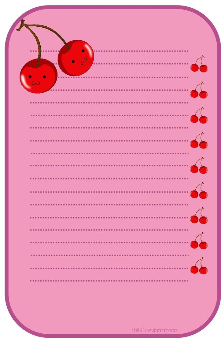Cherry stationery