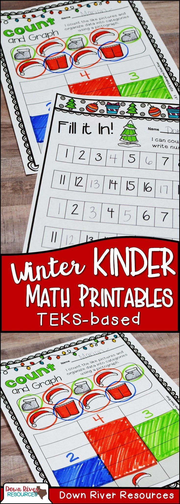 Kindergarten Winter Math No Prep Printables Teks Ccss Winter Math Kindergarten Winter Math Winter Kindergarten [ 2061 x 736 Pixel ]