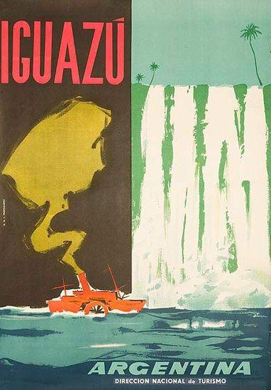 DP Vintage Posters - Iguazu Falls Original Argentina Travel Poster