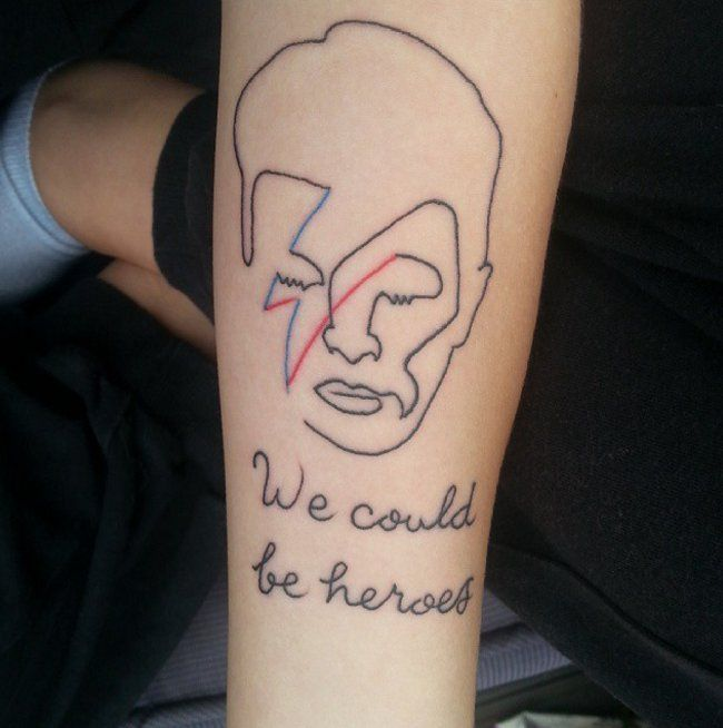 Pin for Later: 43 Hunky-Dory Tattoos That Pay Homage to David Bowie