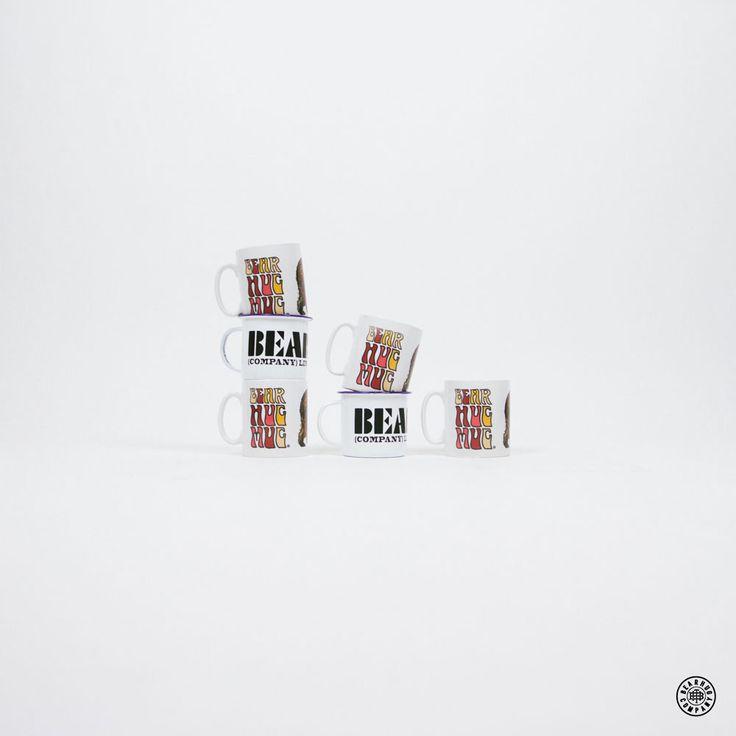 THE BEARHUG CO - Mugs.  #thebearhug #bearhugco #lukedixon #mugs #enamel