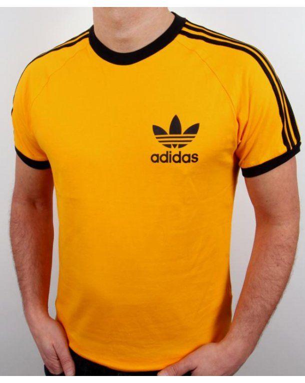 06da4e02 Adidas Originals Retro 3 Stripes T-shirt Gold | Shirts | Adidas retro,  Adidas, Adidas originals