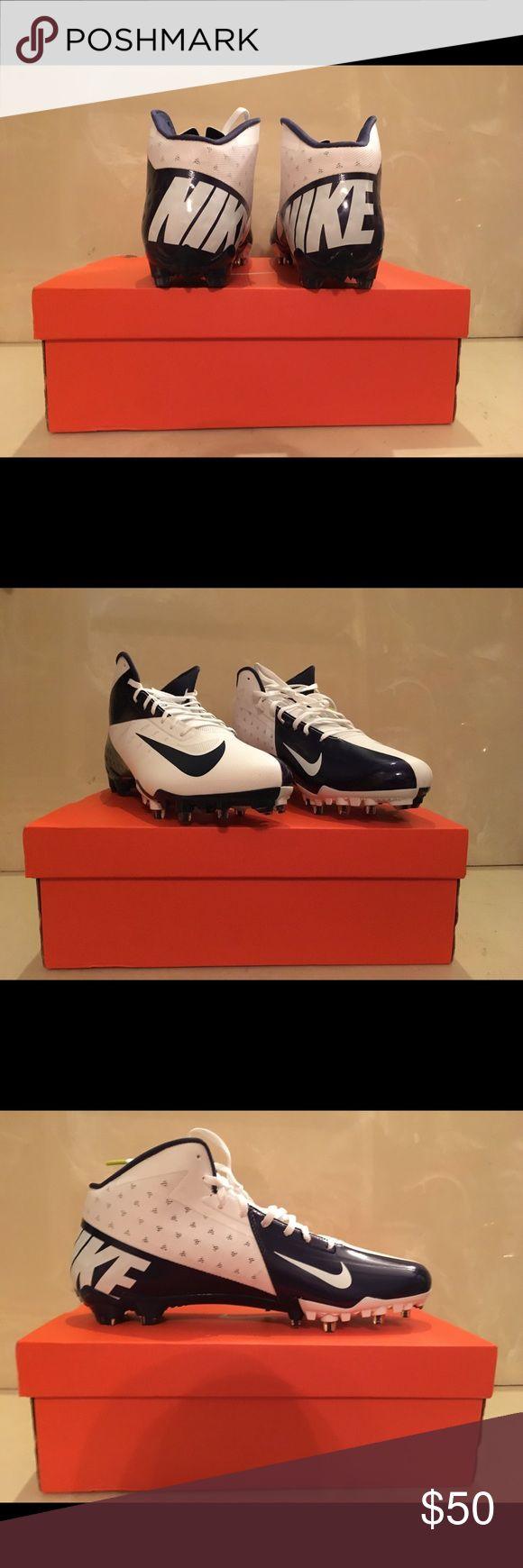 Size 13.5 Nike Vapor Talon Elite Football Cleats The cleats are narrow. The condition of the cleats are new. They are size 13.5 and are blue and white. Nike Shoes Athletic Shoes