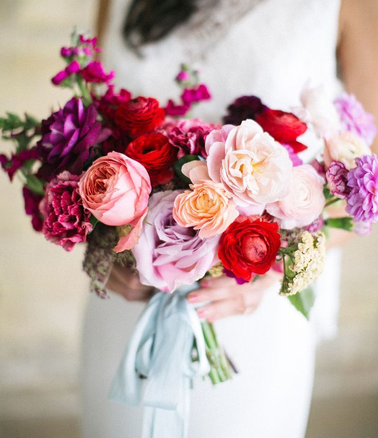colorful ombre pink bouquet