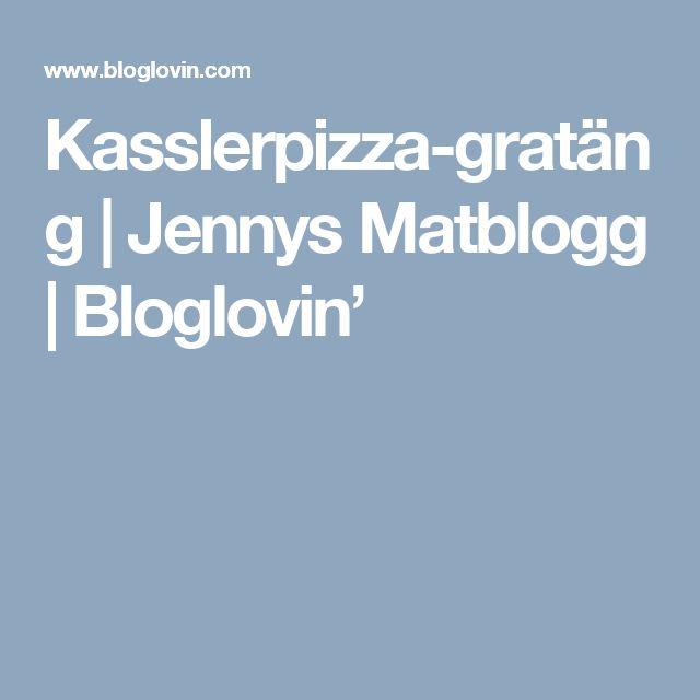 Kasslerpizza-gratäng | Jennys Matblogg | Bloglovin'