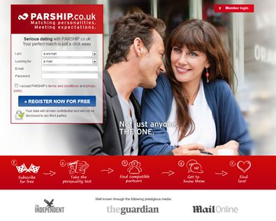 "Parship.co.ukparship co uk  The dating website promises ""matching personalities. Meeting expectations"".  Main Features:  You are offered free registration, scientific compatibility test (based on 40 years of research), dating advice site, advance safety and discretion feature, free profile verification service, in-depth personality questionnaire and it comes as a mobile dating app.    Target Audience: This website is suitable for singles who are ready for a serious committed relationship."