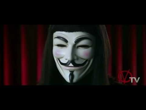 "In the famous speech by V to the city of London, extracted from the film ""V for Vendetta."""