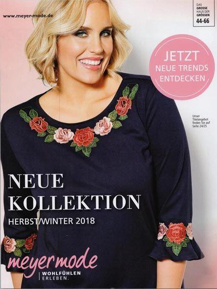 0663e370c0d Немецкий каталог одежды для полных женщин среднего возраста Meyer Mode  осень-зима 2018-2019