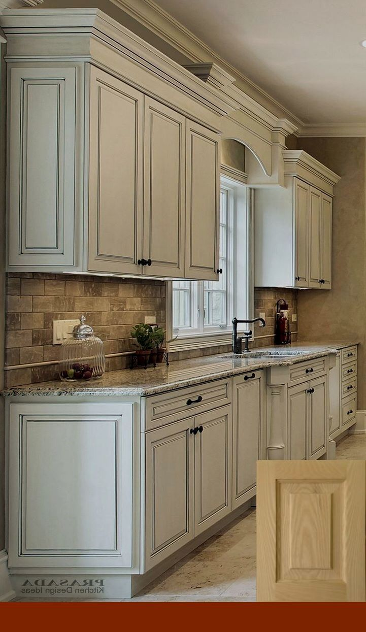 Antique White Kitchen Cabinets With Grey Walls Kitchen Cabinets