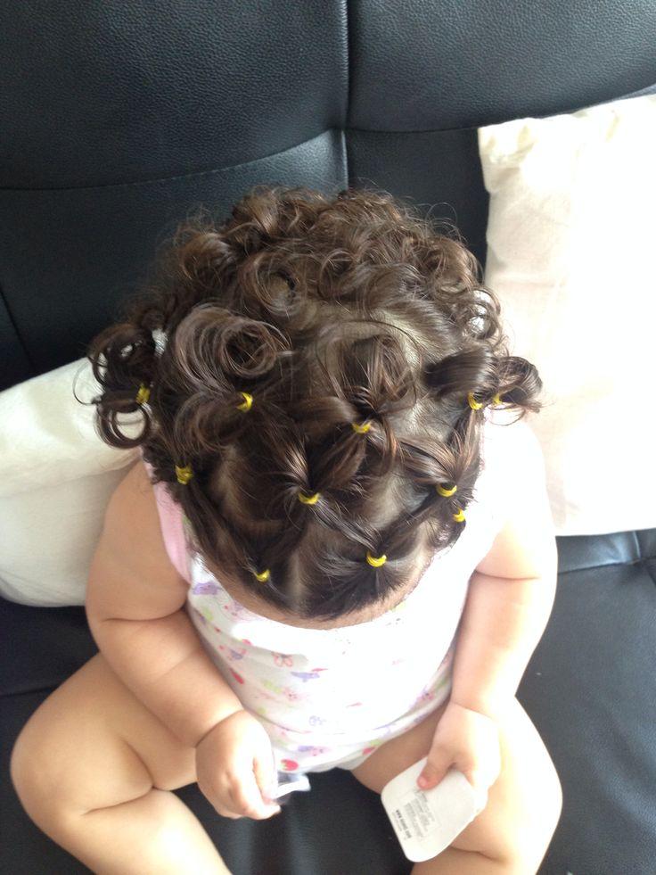 Ya primer peinado que le hago a mi bebita!!!! Se ven hermosisimas!!!!
