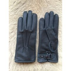 New Winter Women's Deerskin Driving Leather Gloves with cashmere lining